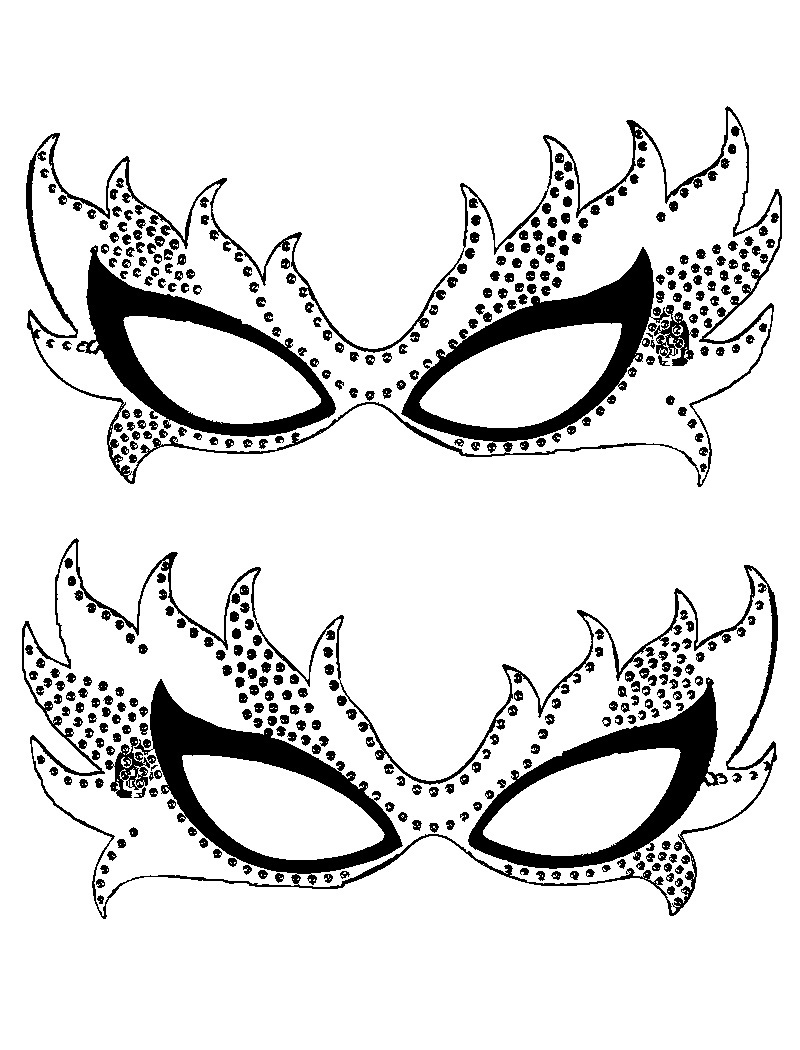 Free printable mardi gras coloring pages for kids for Children s mask templates