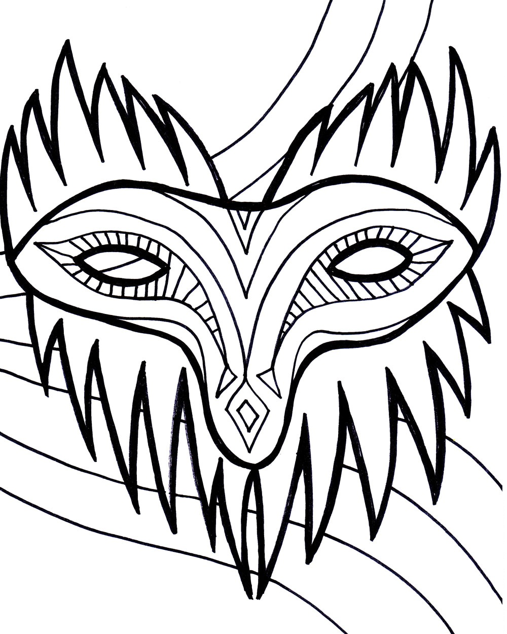 Coloring Pages Mardi Gras Color Pages free printable mardi gras coloring pages for kids mask pages