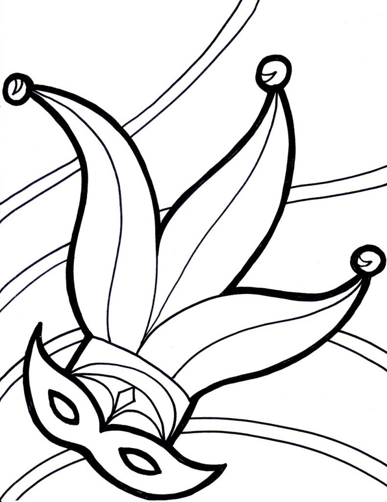 Mardi Gras Masks Coloring Pages