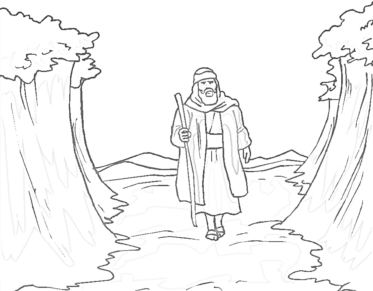 moses in bulrushes coloring pages - photo#19