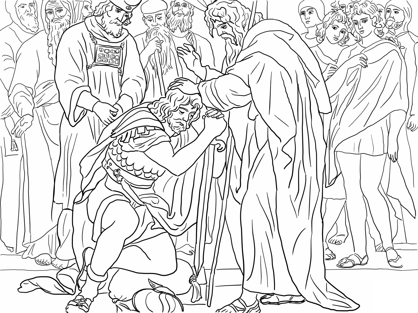 moses coloring pages free - photo#32