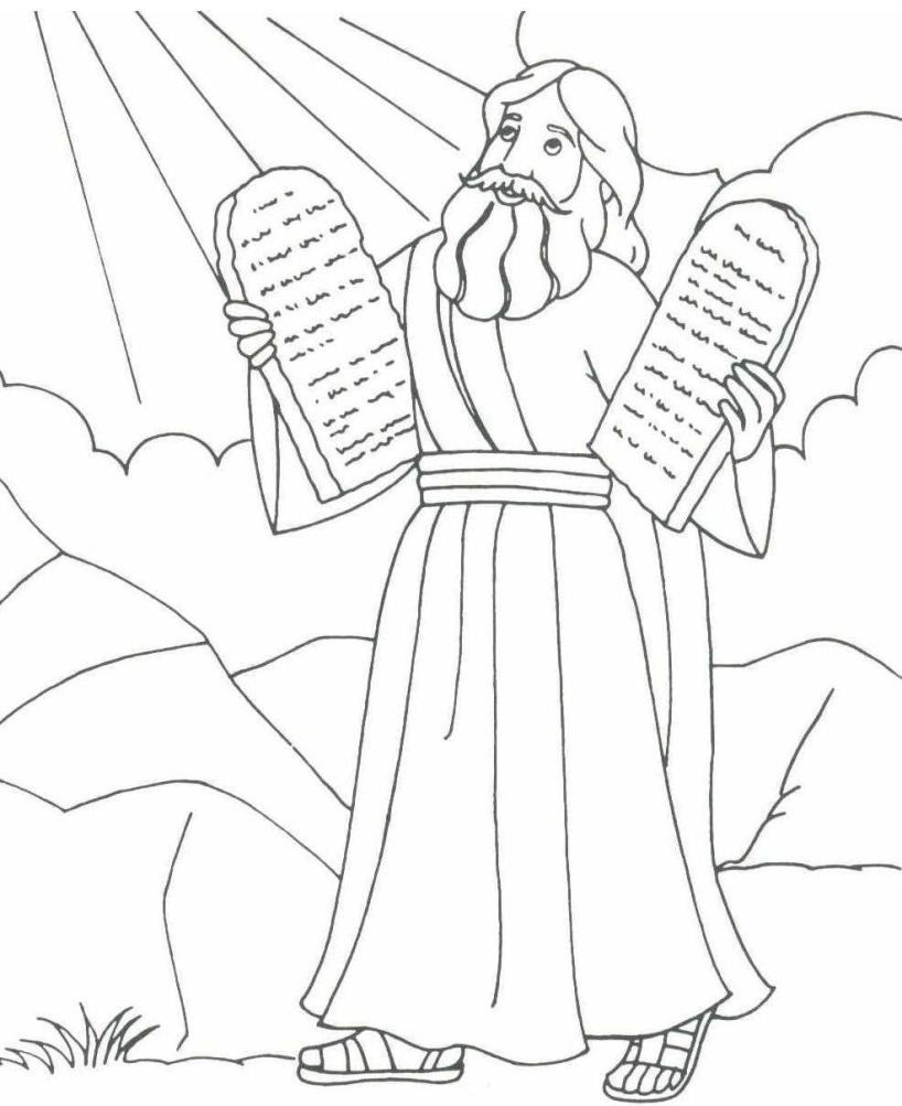 moses red sea coloring pages - photo#23