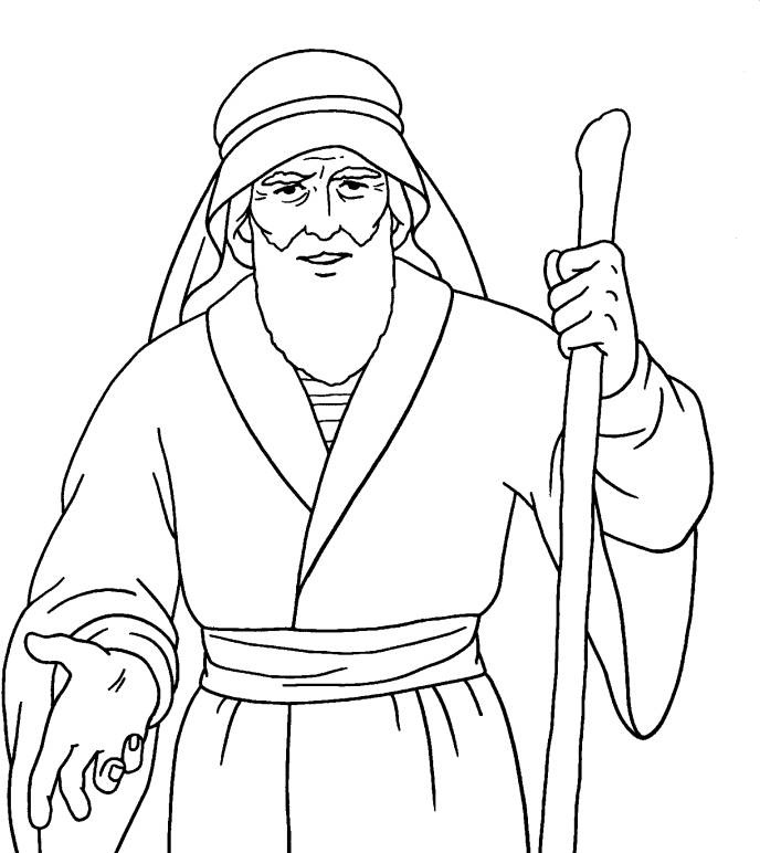 Moses Coloring Pages Kidsuki