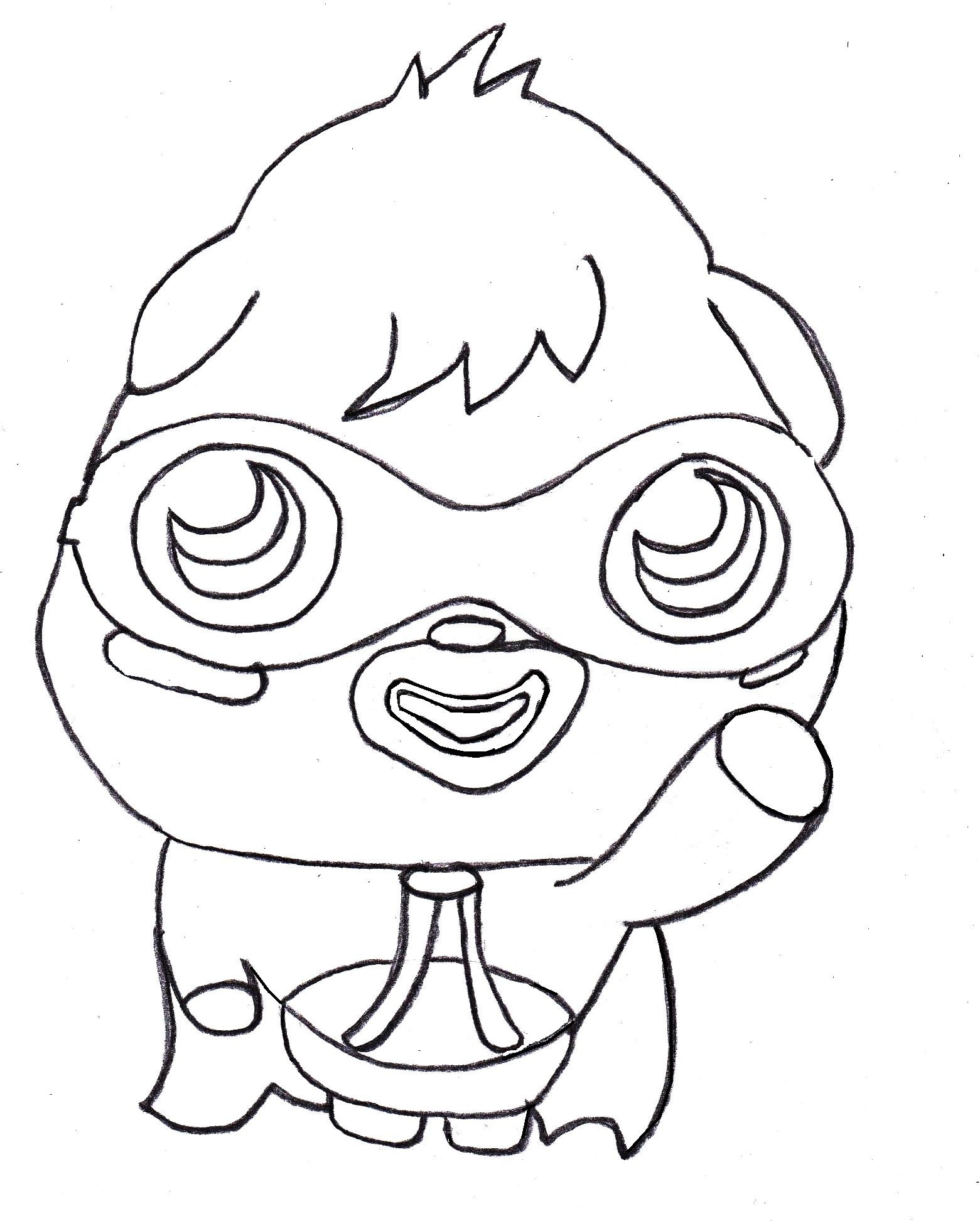 Moshi Monsters Coloring Pages For Kids