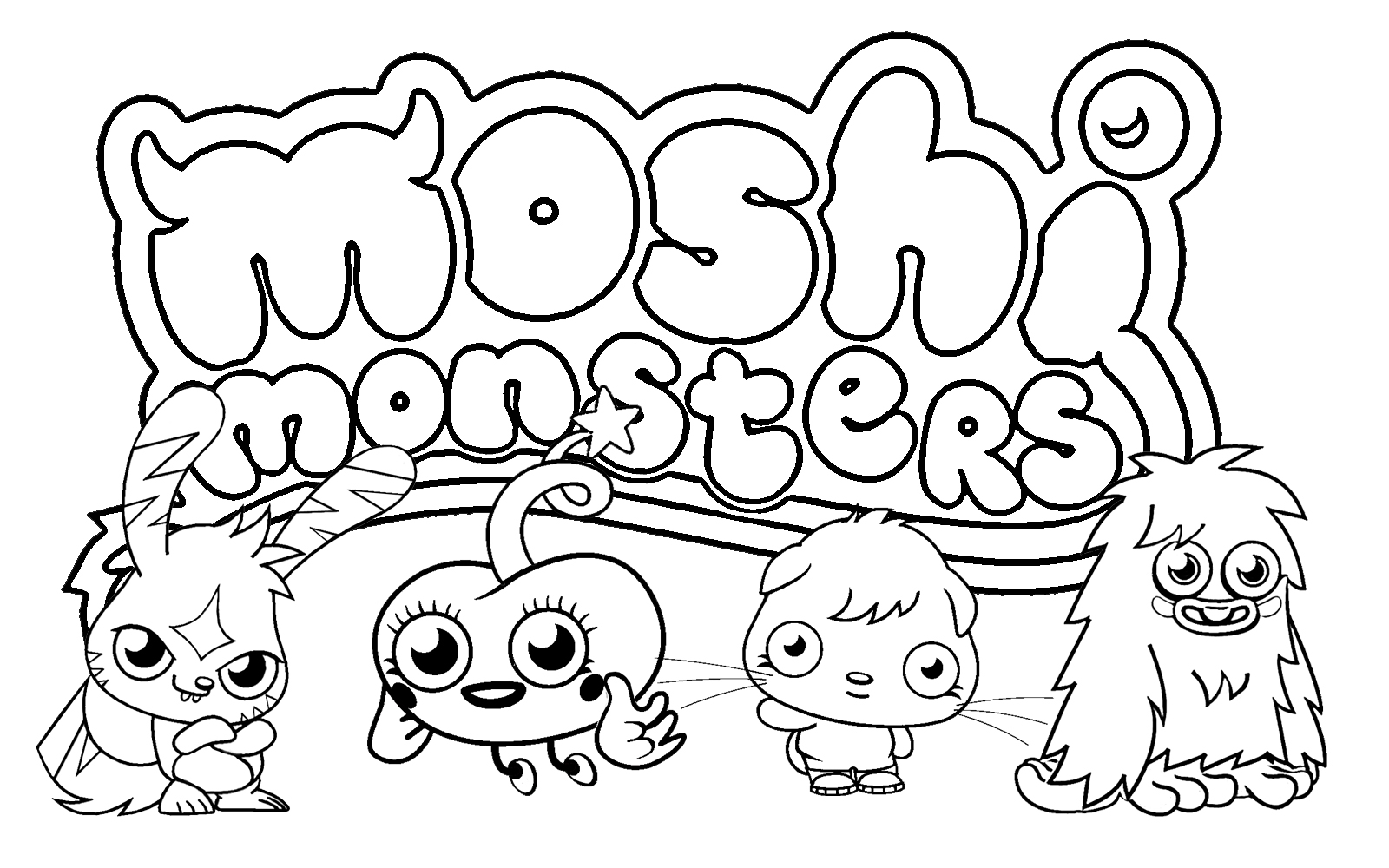 moshi monsters coloring pages - Monster Pictures For Kids To Print