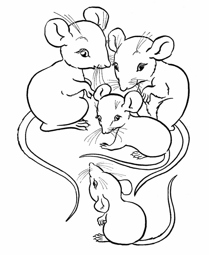 mice printable coloring pages - photo#18