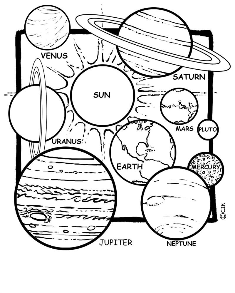 coloring pages on space - photo#31
