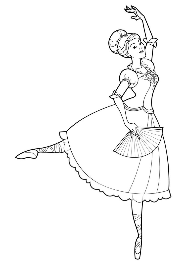 Coloring pages ballerina - Printable Ballet Coloring Pages
