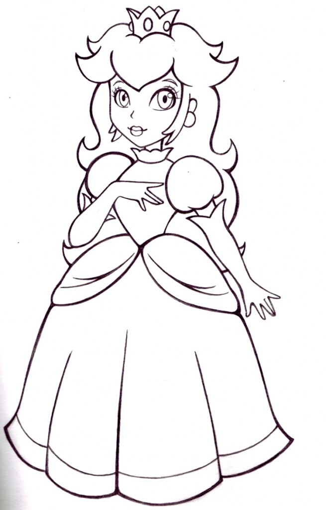 Free Princess Peach Coloring Pages For Kids Princess Coloring Books Free Coloring Sheets