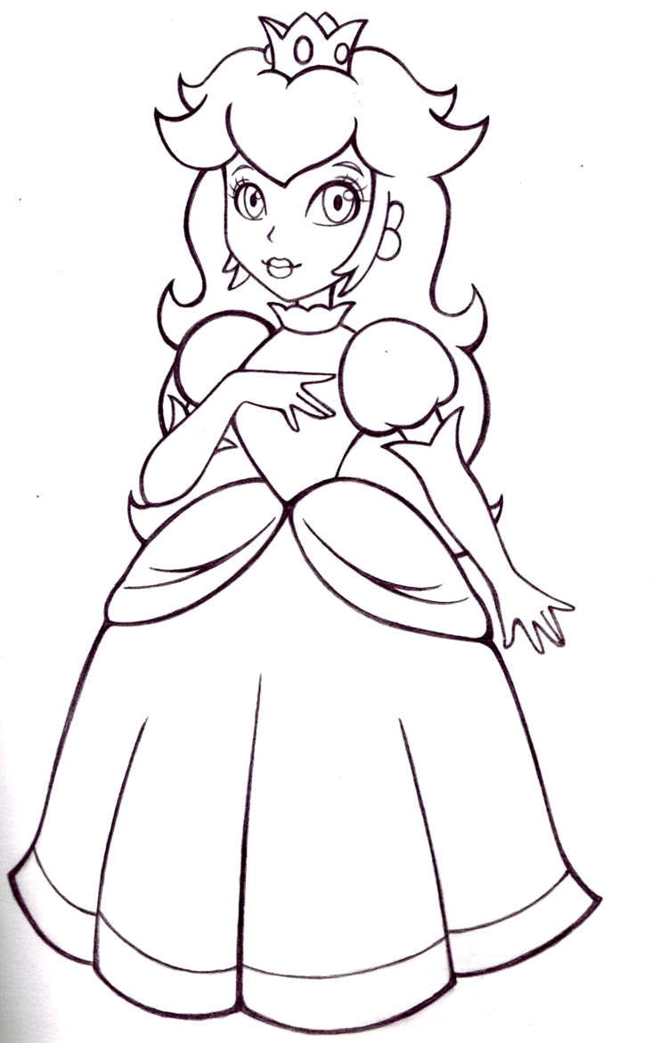 printable princess coloring pages online - photo#16