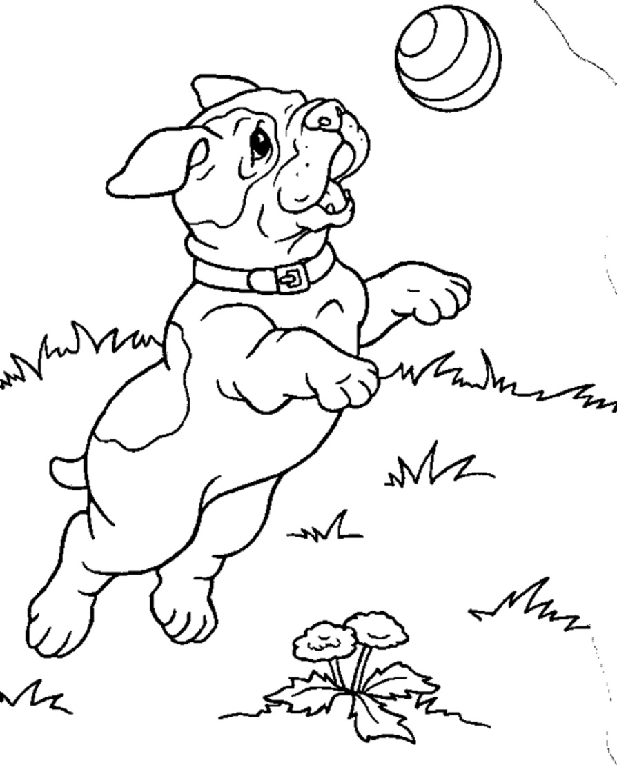 childrens coloring pages with puppies - photo#3