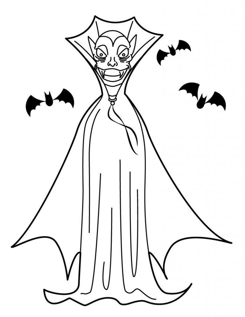 printable vampire coloring pages - photo#33