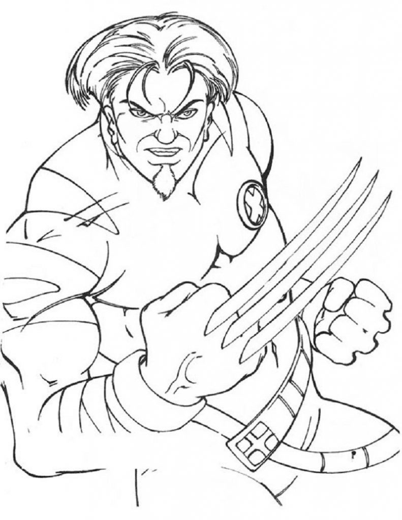 x men coloring book pages - photo #16