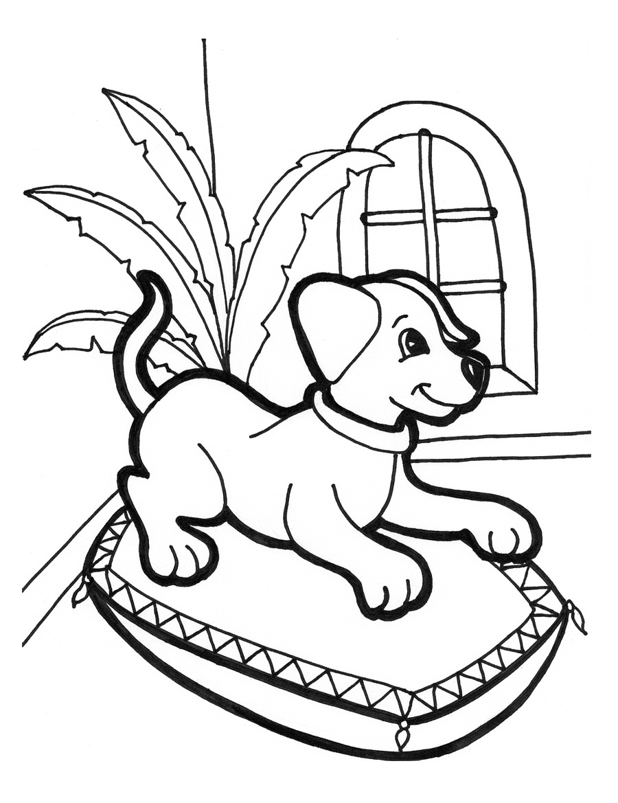puppies coloring pages free - Puppy Coloring Pages To Print Free