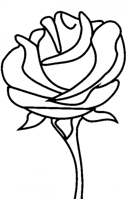 image of rose for coloring pages | Free Printable Roses Coloring Pages For Kids