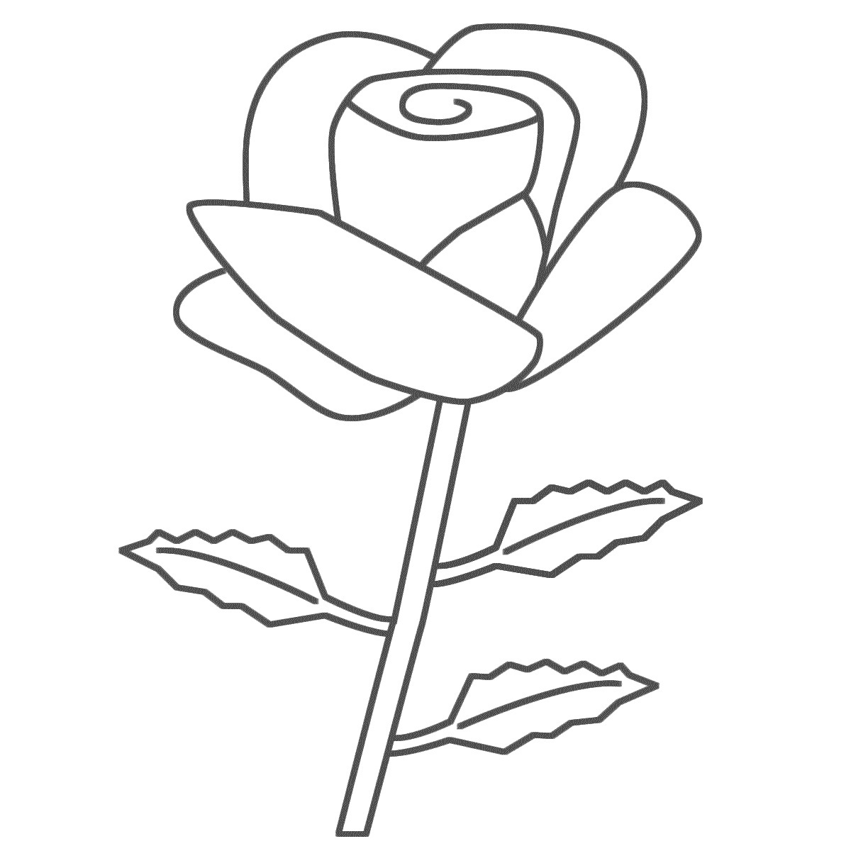 rose coloring pages for kids - photo#9