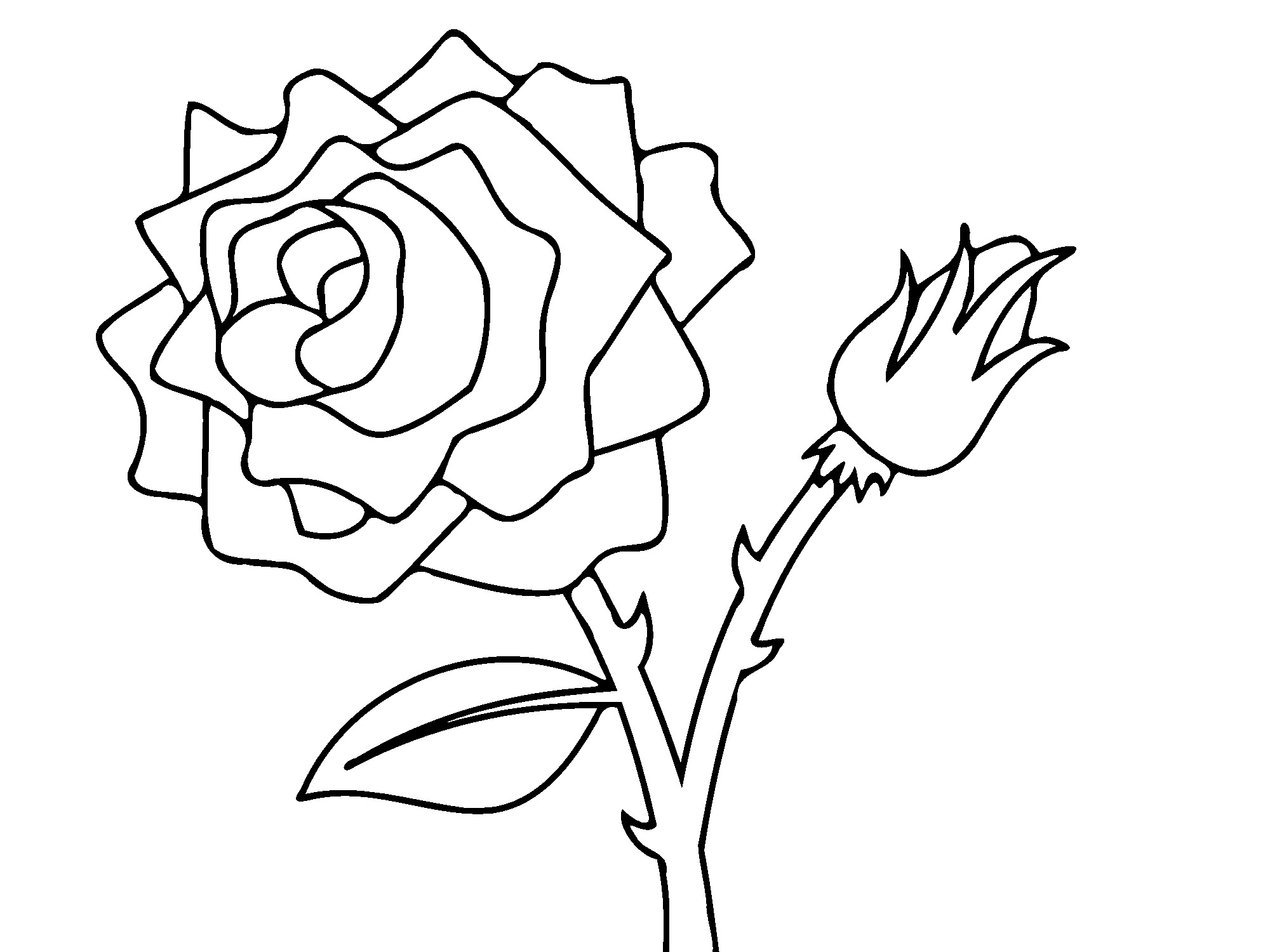 rose coloring pages for kids - photo#6