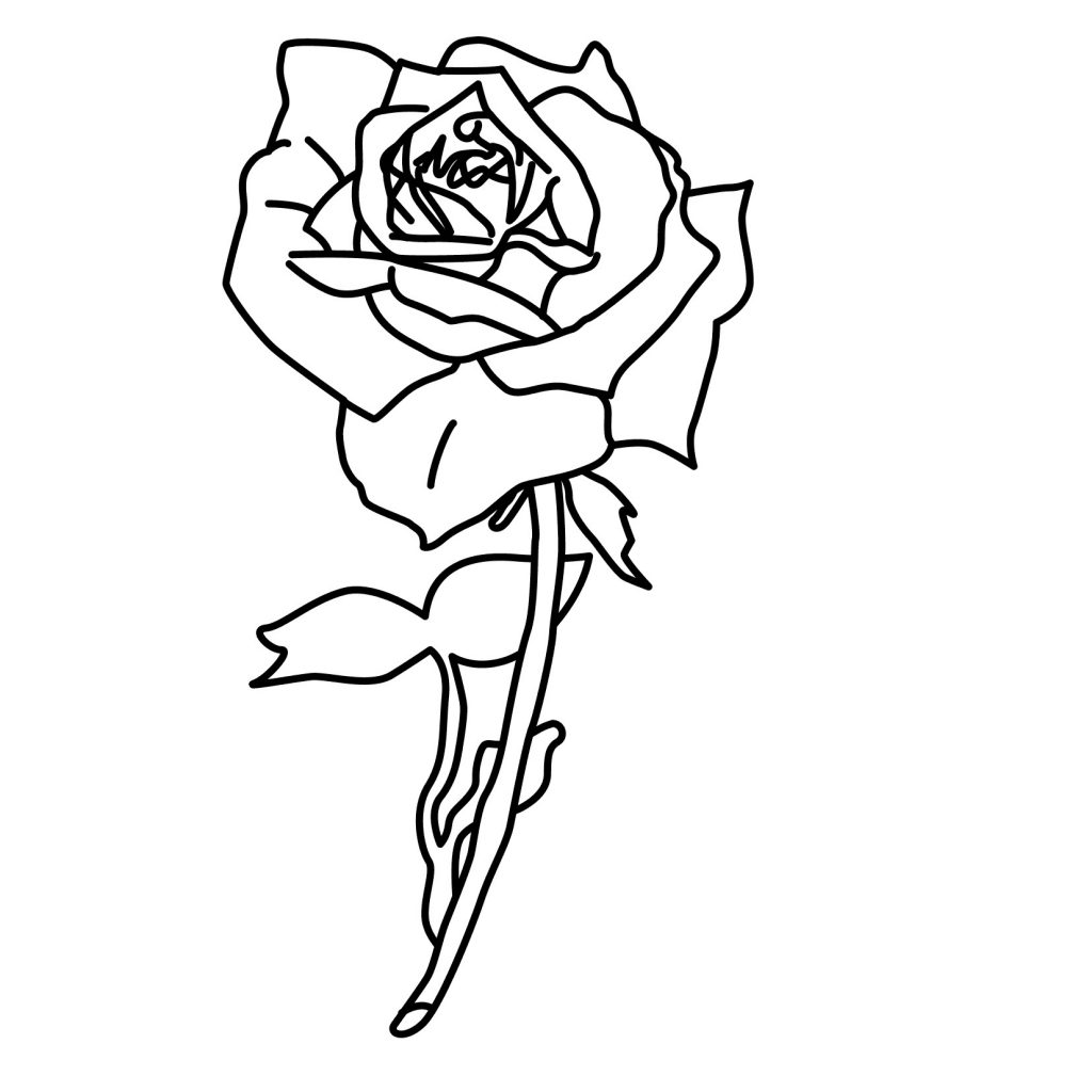 rose coloring pages for kids - photo#27