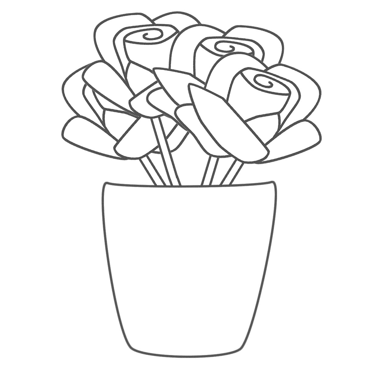 rose coloring pages for kids - photo#17