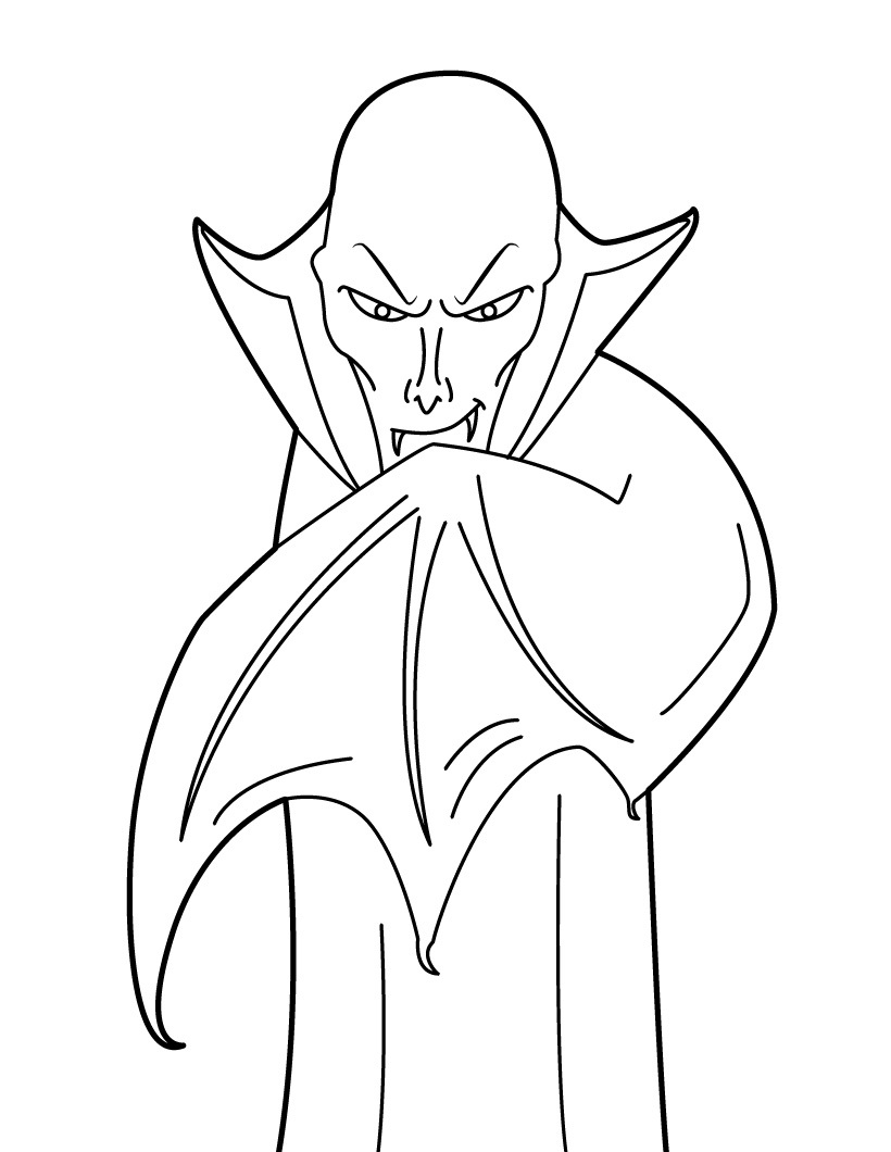 Free Printable Vampire Coloring Pages For Kids