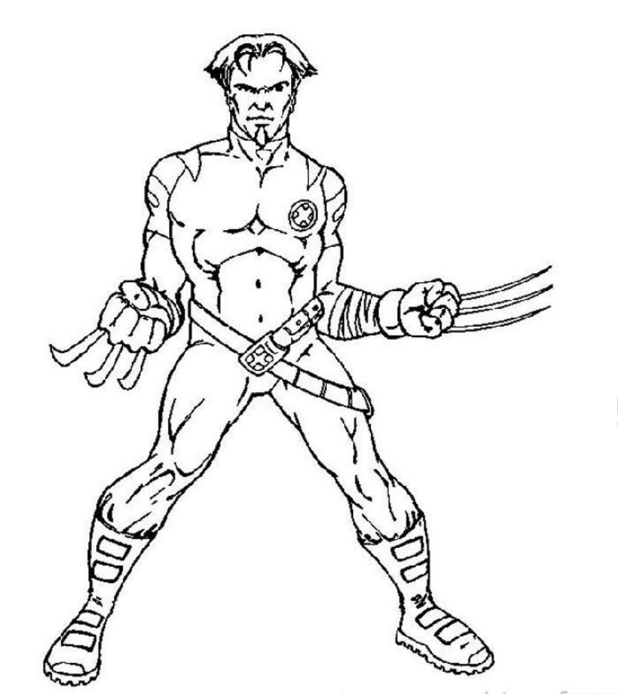 Free printable x men coloring pages for kids for Coloring pages man