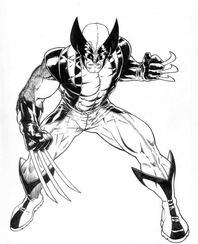 x men coloring book pages - photo #9