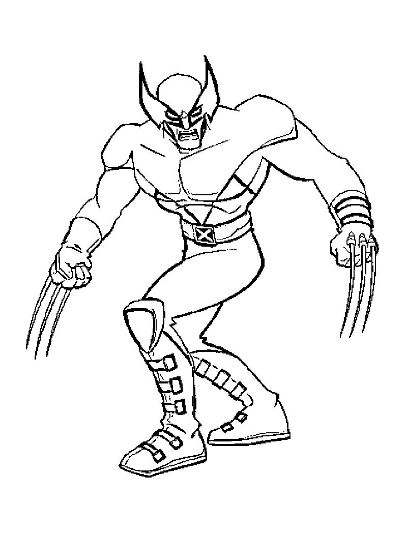 x man wolverine coloring pages - photo #7