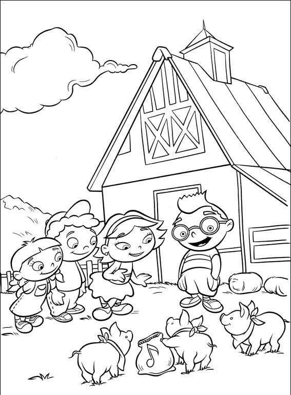 Little Einsteins Coloring Page Farm