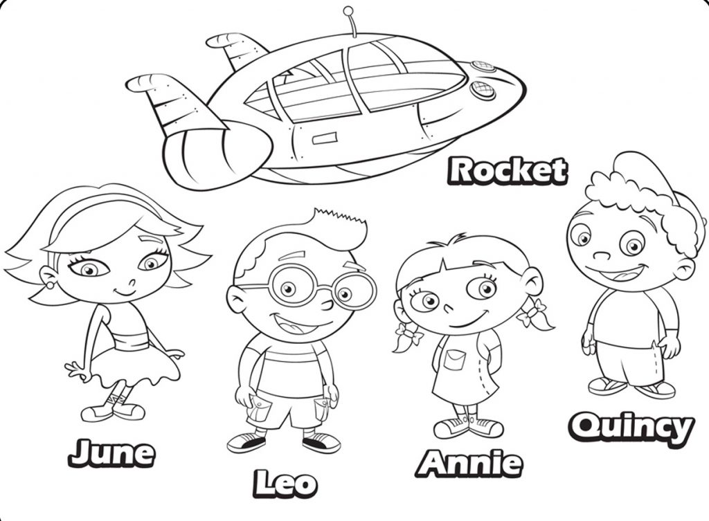 Little Einsteins Coloring Pages Characters