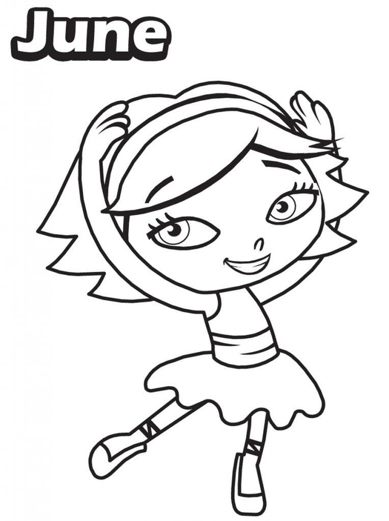 Little Einsteins Coloring Pages - June Dancing