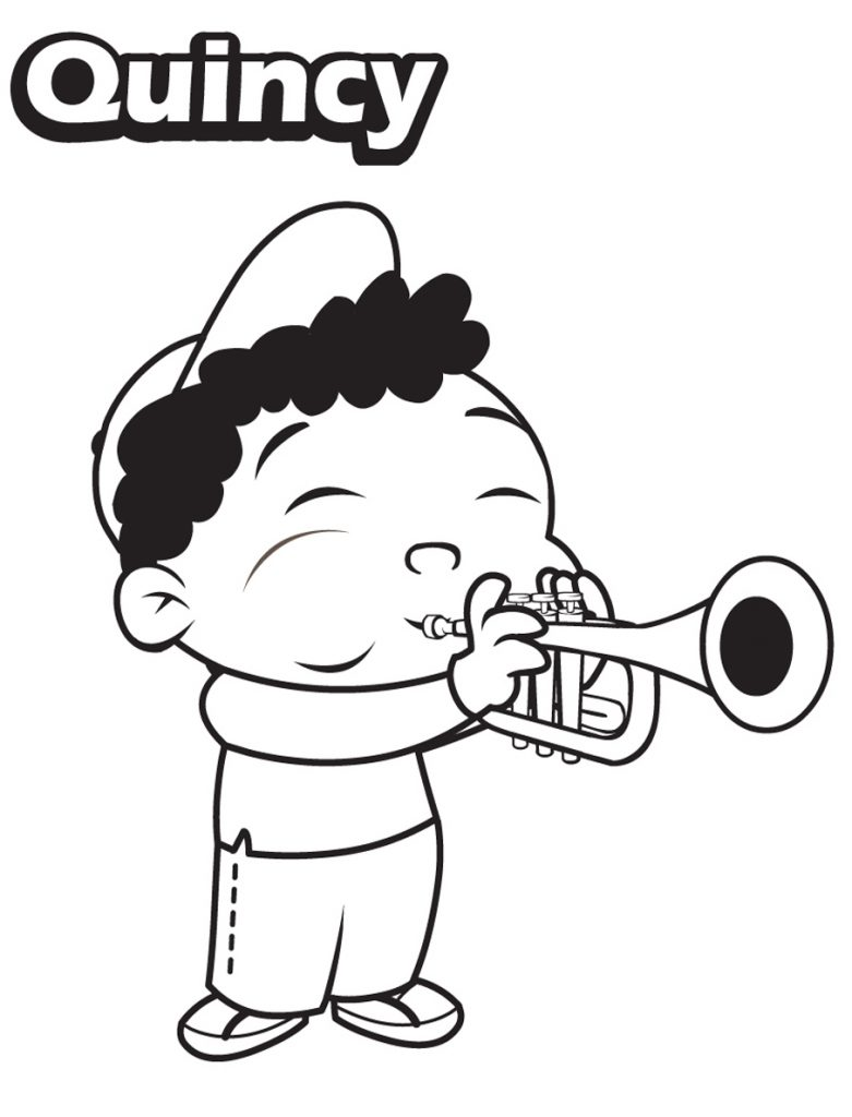Little Einsteins Coloring Pages - Quincy Paying Trumpet