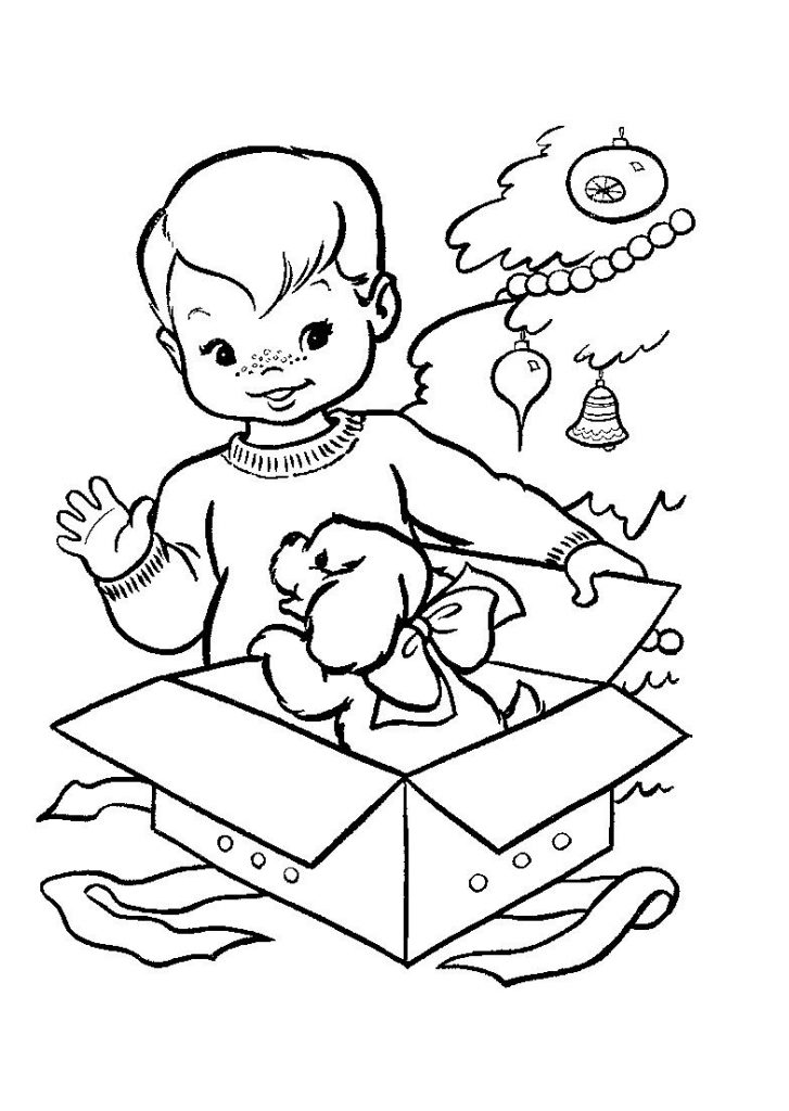 Baby Boy Coloring Pages