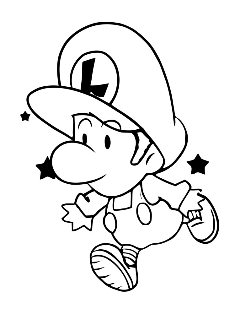 free printable luigi coloring pages for kids wallpaper hd