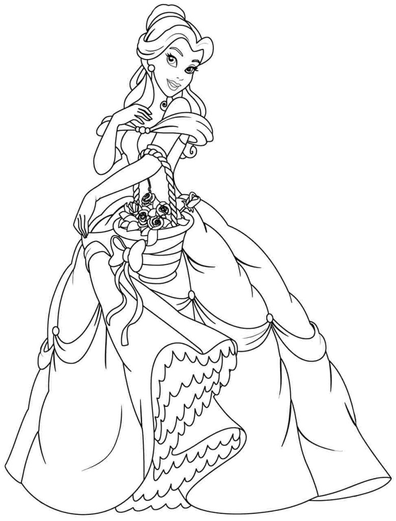 coloring pages of disneys belle - photo#25