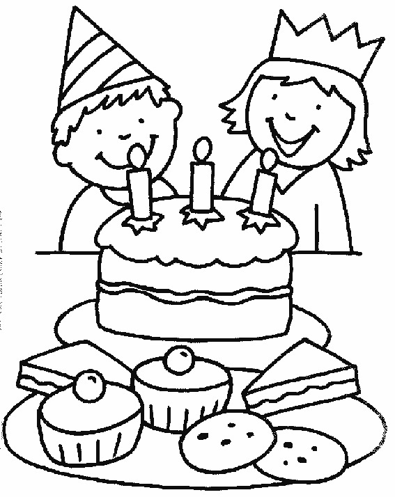 Free Coloring Pages Of Birthday Cakes
