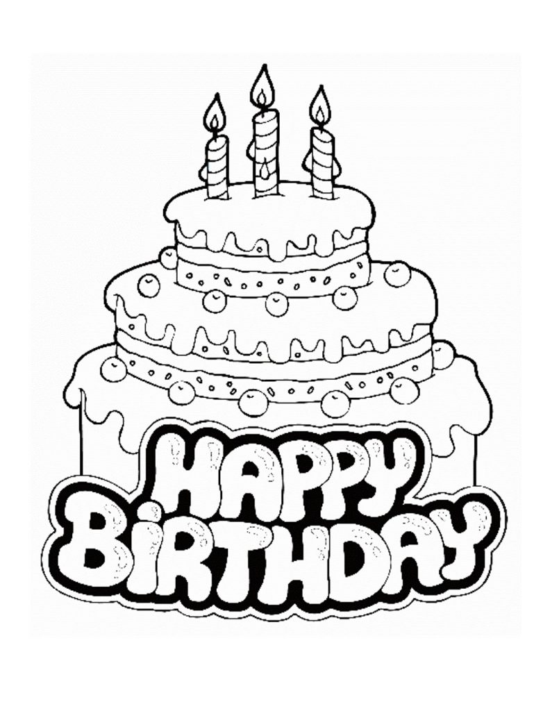 free 1st birthday coloring pages - photo#36