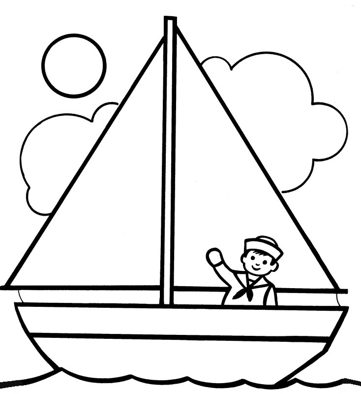 coloring book pages boat - photo#22