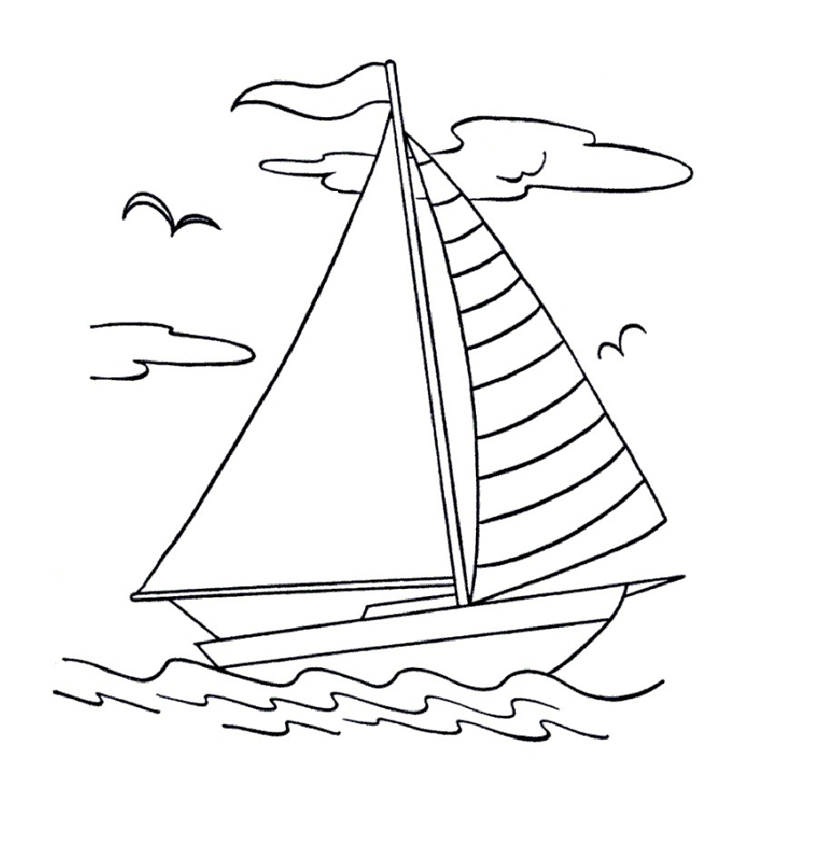 coloring book pages boat - photo#16