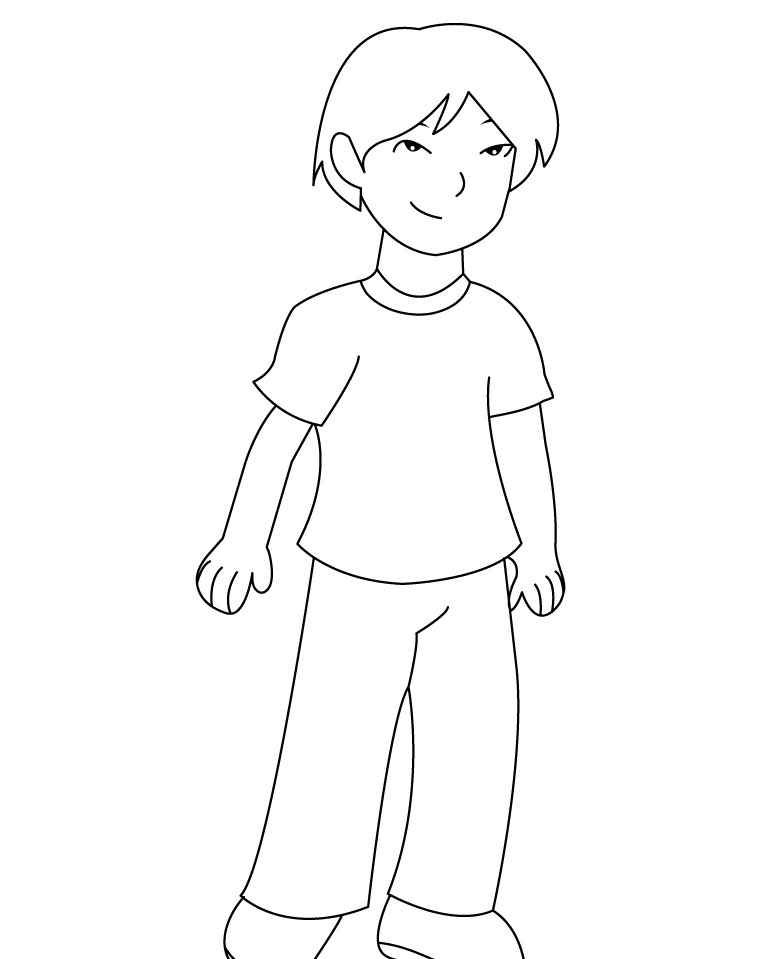 boy coloring page - Free Printable Boy Coloring Pages