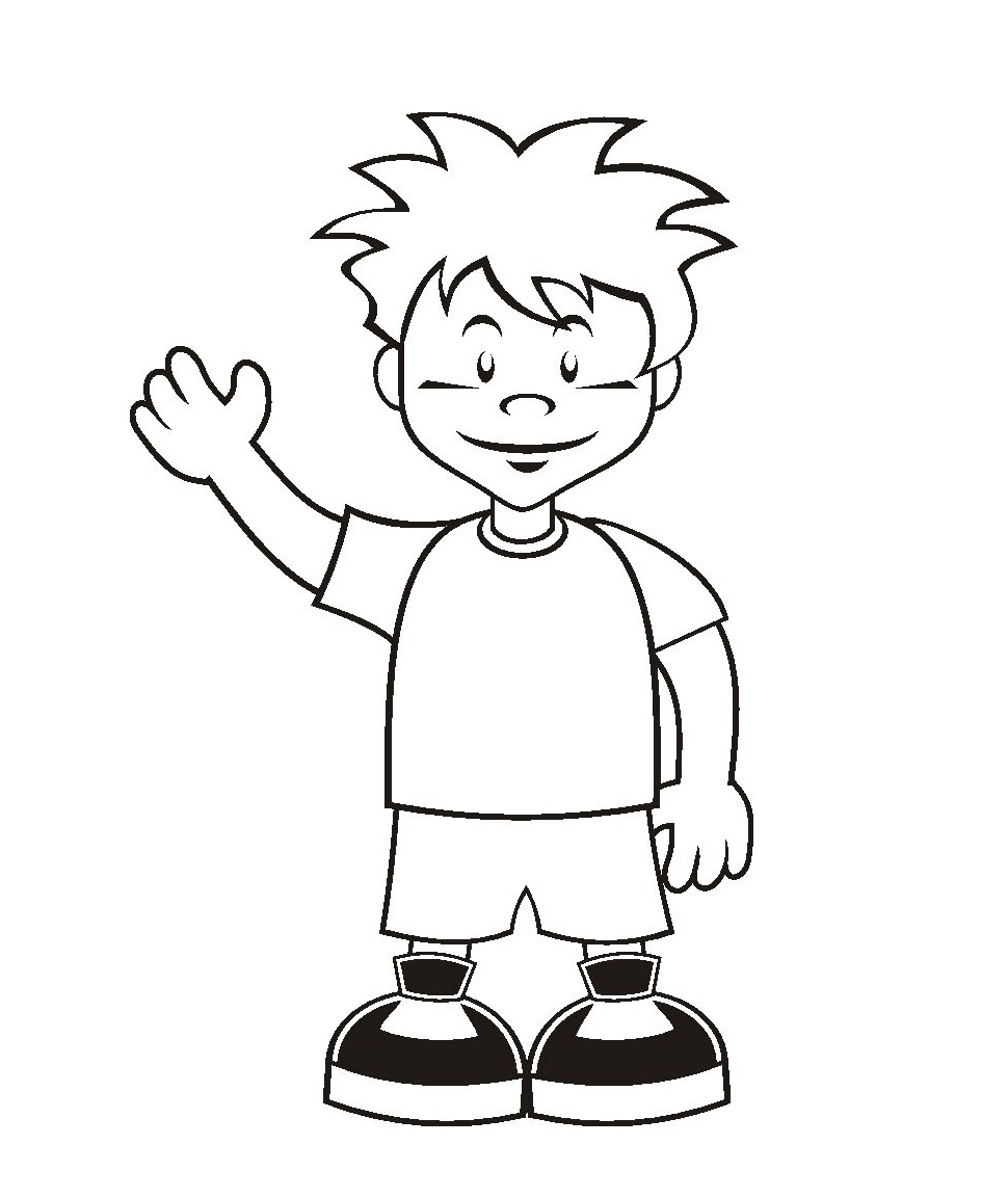 boy coloring pages for print - photo#5