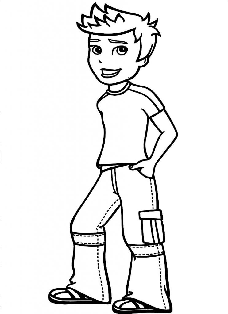 a boy coloring pages - photo #7