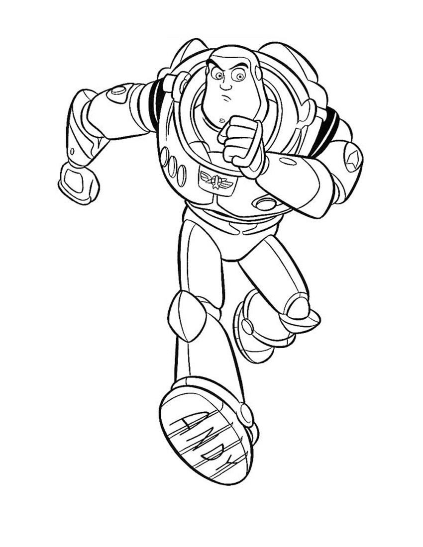 buzz lightyear color pages - Buzz Lightyear Coloring Pages Printable