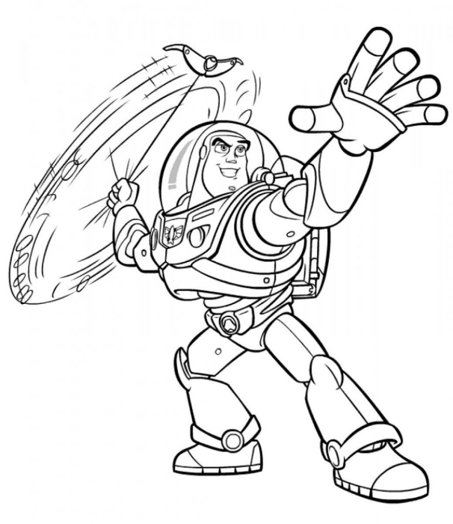 Free printable buzz lightyear coloring pages for kids Coloring book for print