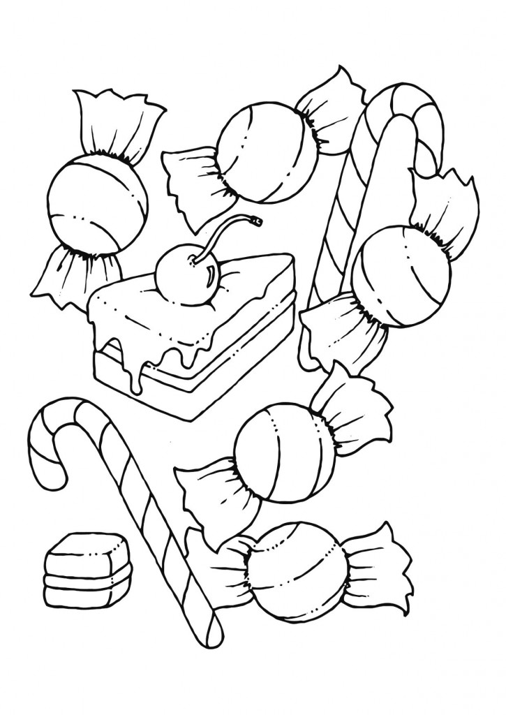 Free Printable Candy Coloring - 110.8KB