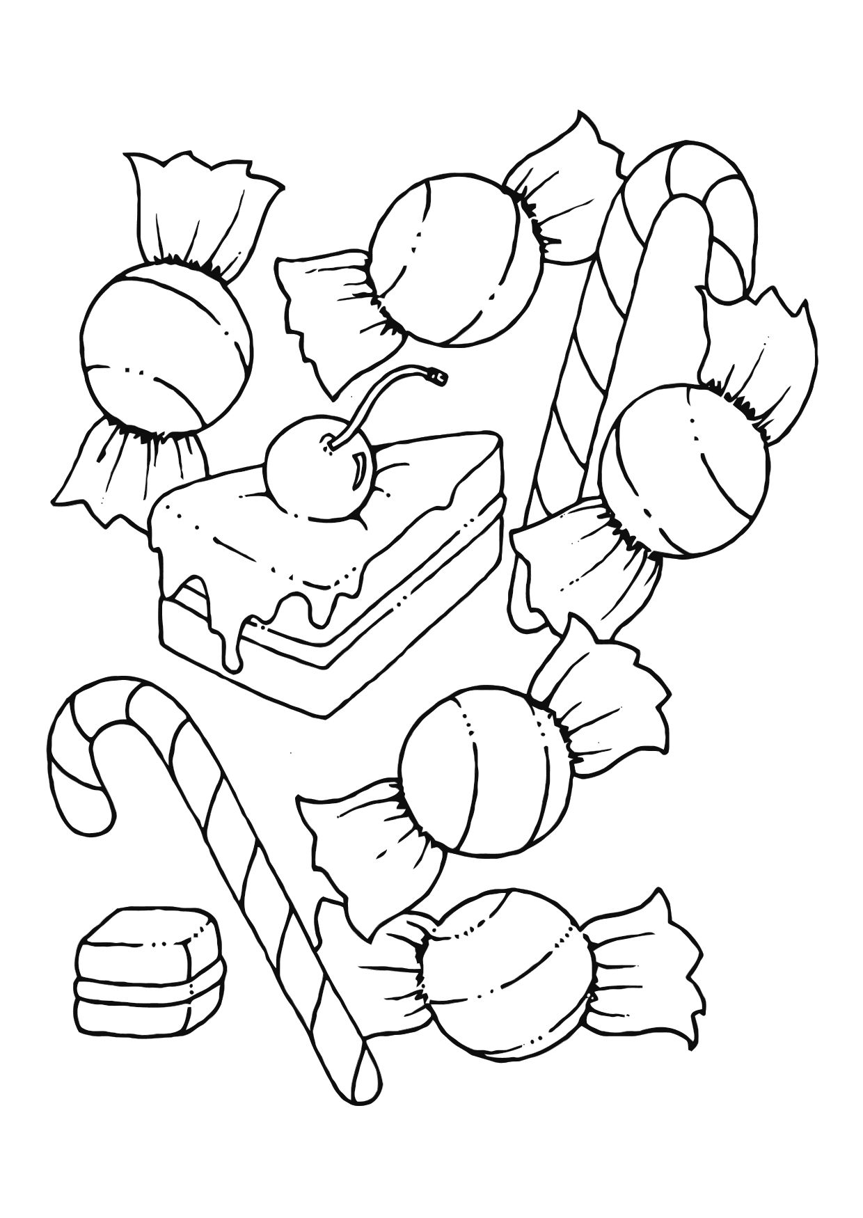 coloring pages fo candy - photo#9