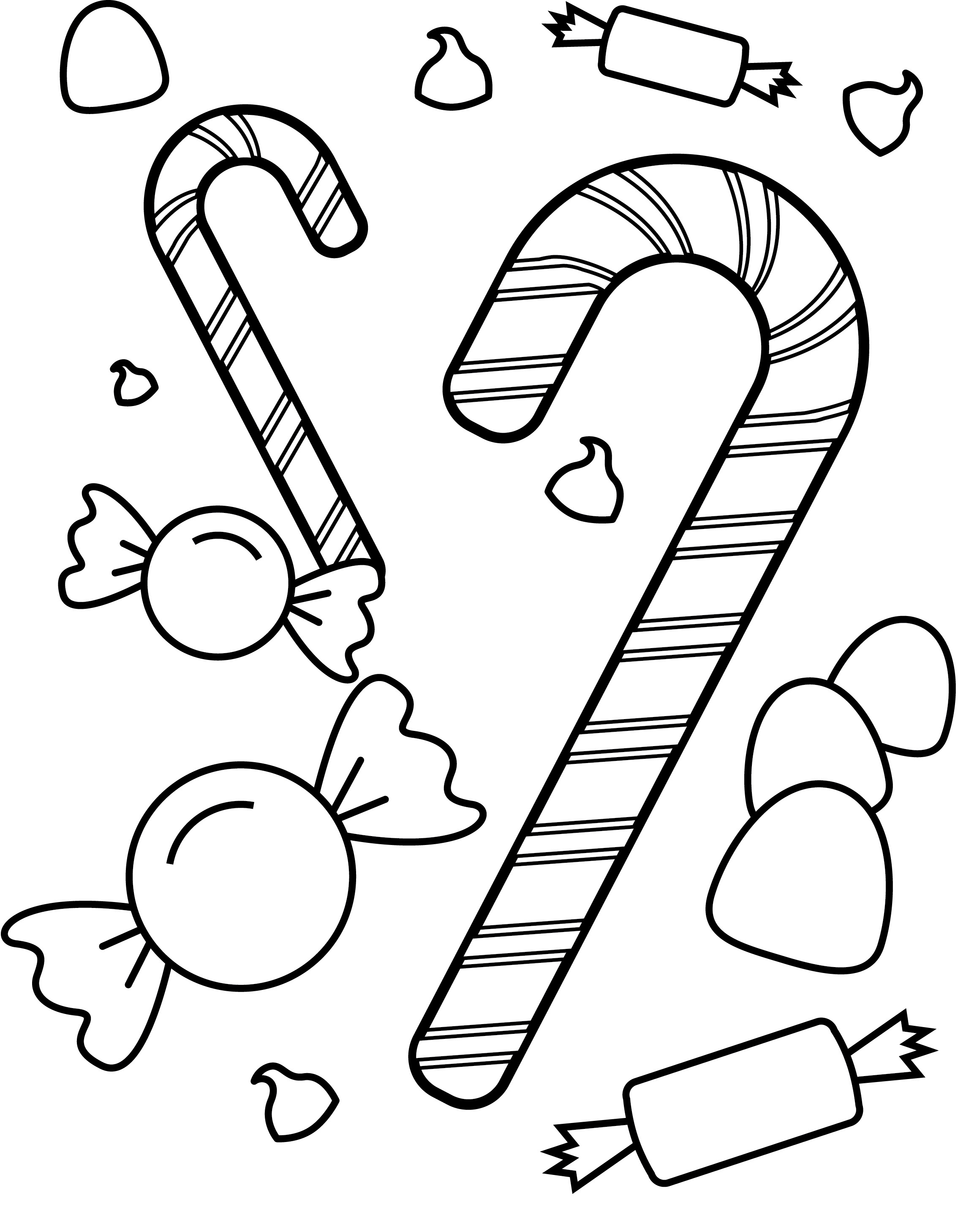 free coloring pages of gum candies
