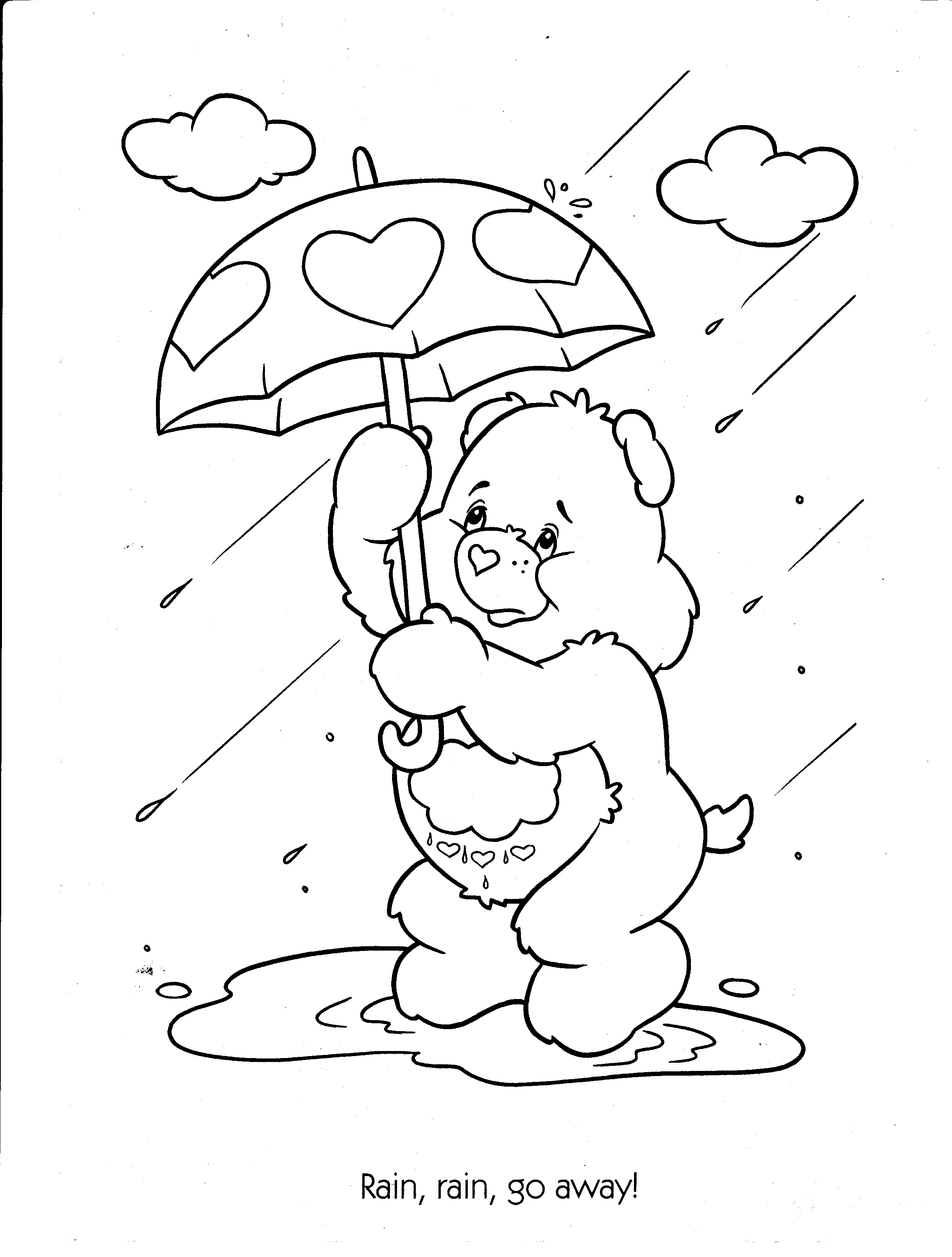 care bear coloring pages christmas - photo#30