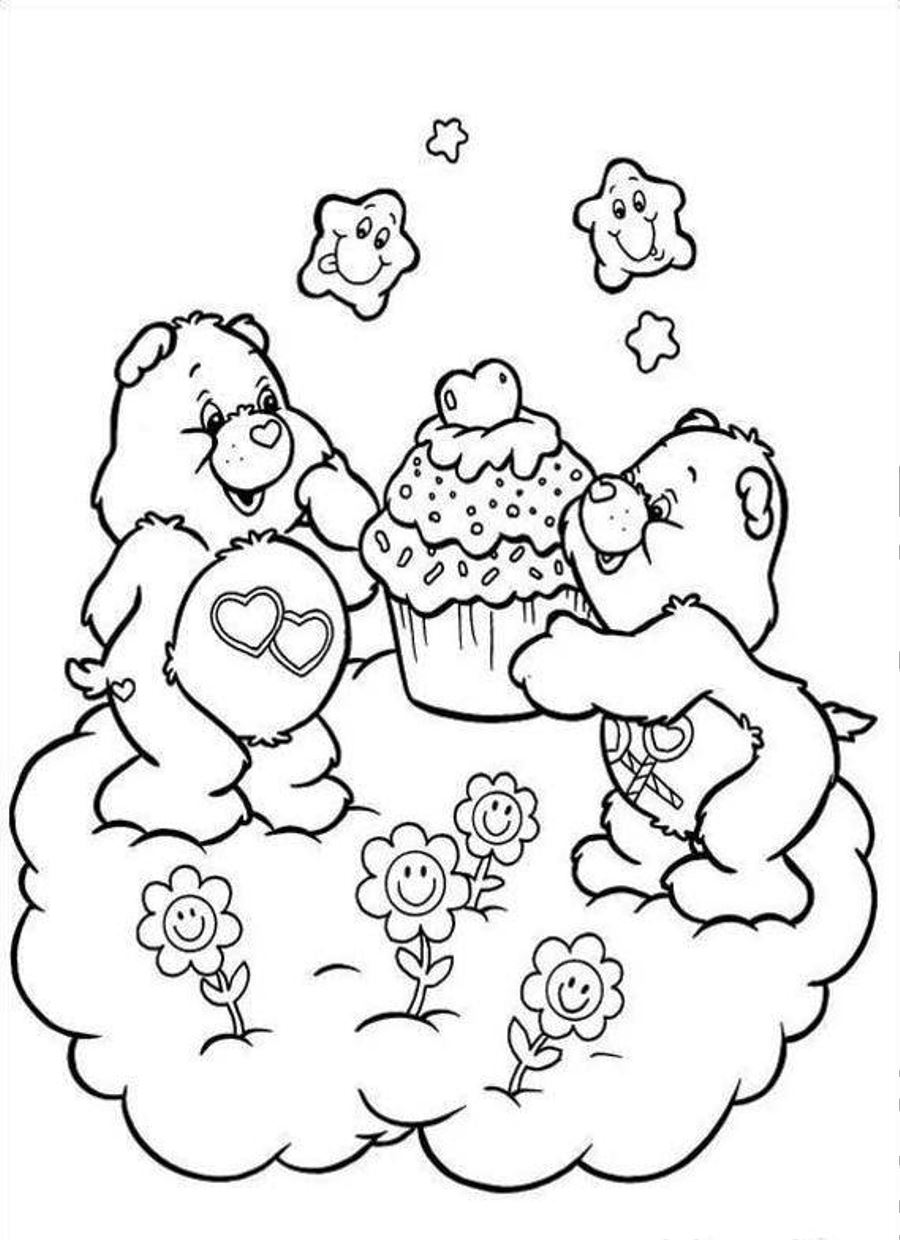 care bear coloring pages christmas - photo#24