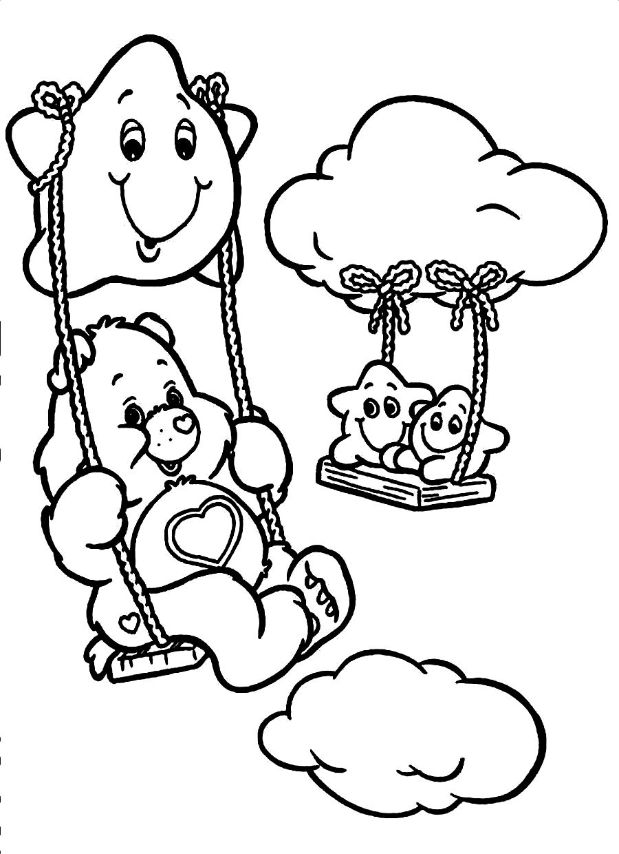 Coloring Pages Coloring Pages Of Care Bears free printable care bear coloring pages for kids to print