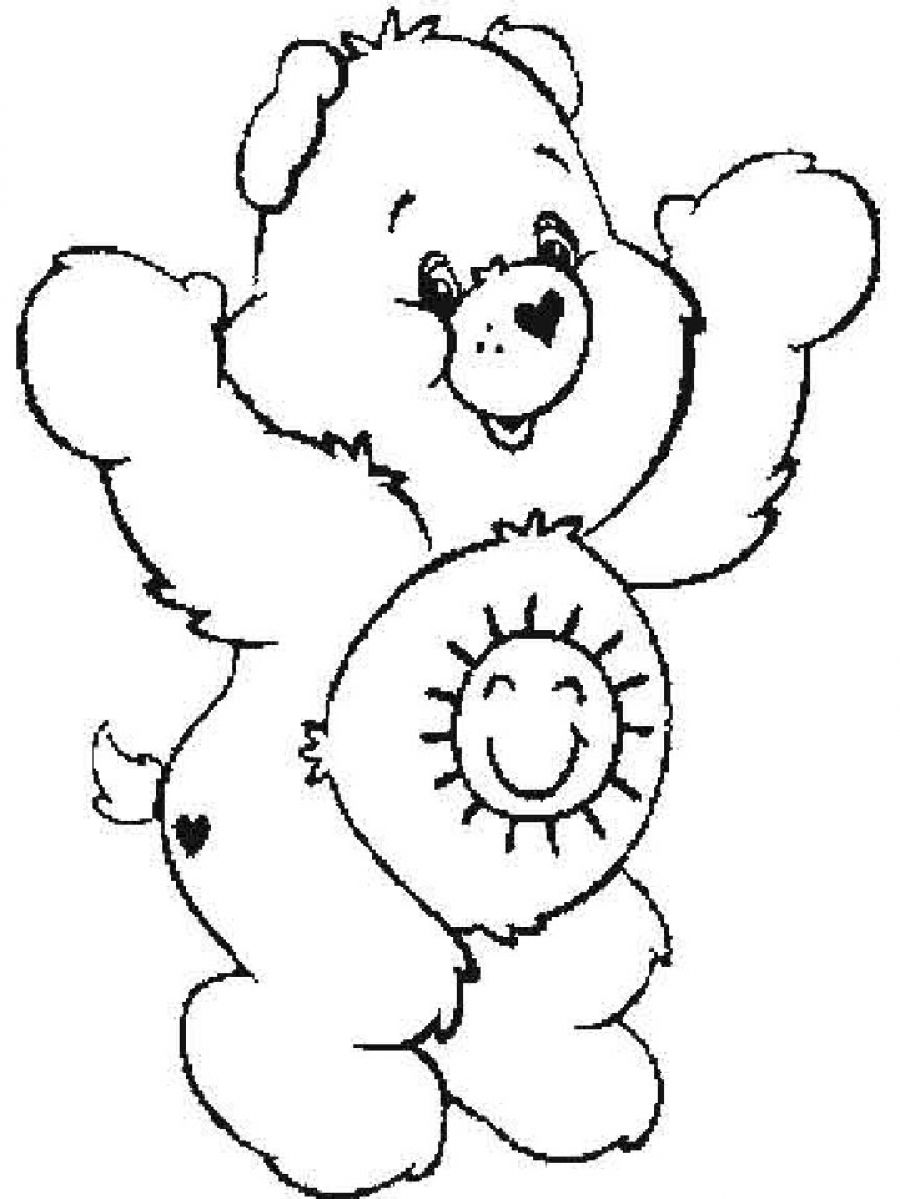 care bears coloring pages oopsy - photo#41